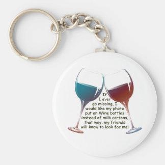 Si voy nunca a faltar… el vino de la diversión que llavero redondo tipo pin
