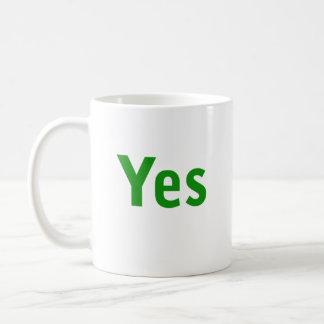 Sí y ninguna taza