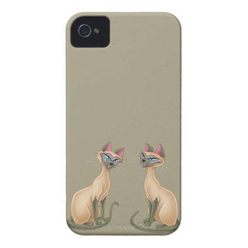 Si y sentada de la iPhone 4 Case-Mate protectores