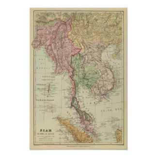 Siam, Burma and Anam Poster