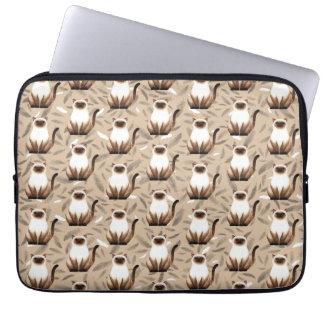 Siam cat pattern Laptop Sleeve