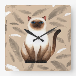 Siam cat Wall Clock