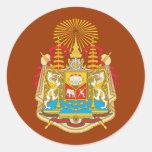 Siam Coat Of Arms Round Sticker