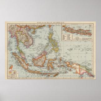 Siam, Malay Archipelago Poster