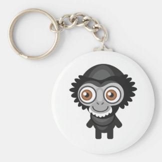 Siamang - My Conservation Park Basic Round Button Keychain