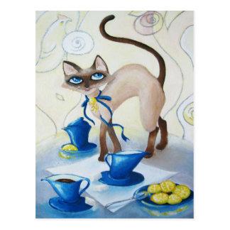 Siamés - bella arte postales