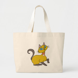 "Siames Cat ""Pistache"" Canvas Bag"
