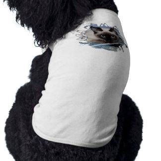Siamés juguetón camisa de perro