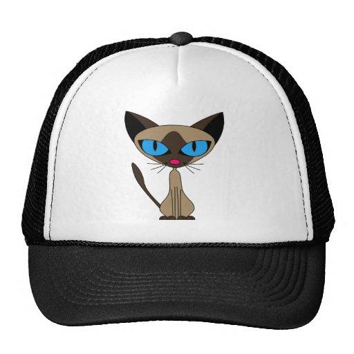 Siamés si usted por favor - gorra del gato siamés