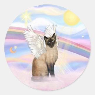 Siamese 22 - Clouds Classic Round Sticker