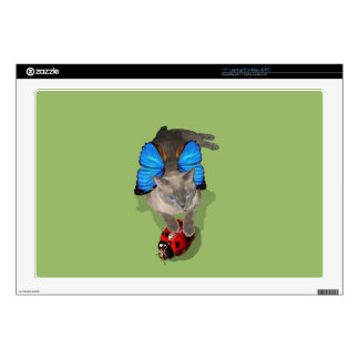 Siamese blue wing cat fairy computer decal skin laptop decal