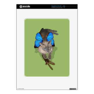 Siamese blue wing cat fairy lady bug ipad decals