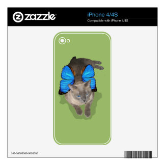 Siamese blue wing cat fairy lady bug iphone decals decal for the iPhone 4