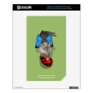Siamese blue wing cat fairy lady bug nook decal