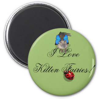 Siamese blue wing cat fairy magnet