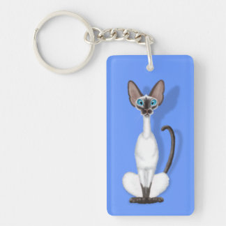 Siamese Cartoon Keychain