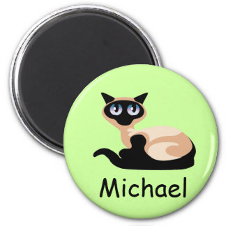 Siamese Cat 2 Inch Round Magnet