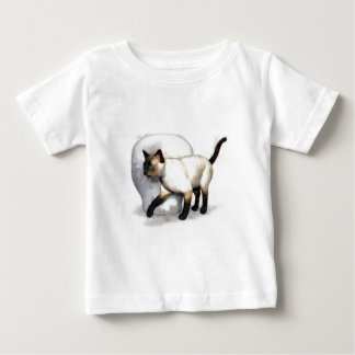Siamese Cat and Vase Portrait Baby T-Shirt
