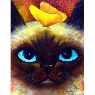 Siamese Cat Art Feline Photo Sculpture