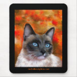 Siamese Cat Art Fire and Ice painting Mouse Pad