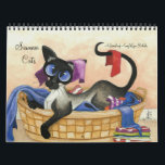 "Siamese Cat Artwork by AmyLyn Bihrle Calendar<br><div class=""desc"">Collection of my Siamese Cat Series</div>"