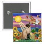 Siamese Cat - Autumn Sun Pin
