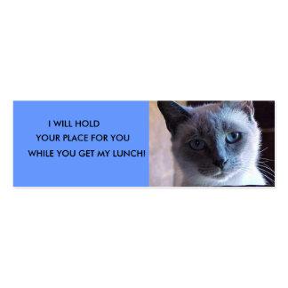 Siamese Cat Bookmark Business Card Template