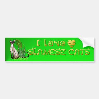 Siamese Cat  Bumper Sticker Car Bumper Sticker