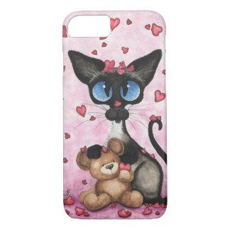 Siamese Cat by BiHrLe iPhone 7 case