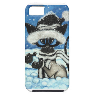 Siamese Cat by BiHrLe iPhone Case