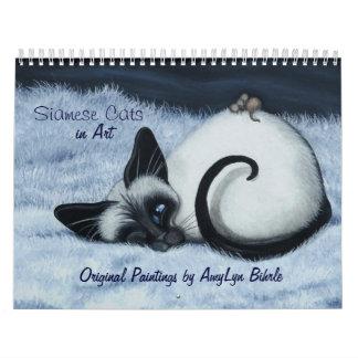 Siamese Cat Calendar by BihRle