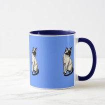 Siamese Cat Cartoon Kids Gift Mug