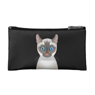 Siamese Cat Cartoon Paws Cosmetic Bags