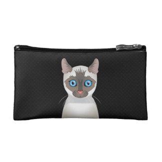 Siamese Cat Cartoon Paws Cosmetics Bags