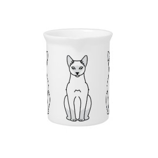 Siamese Cat Cartoon Drink Pitcher