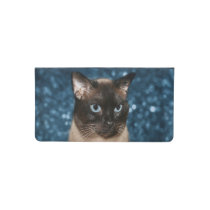 Siamese cat checkbook cover