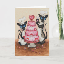 Siamese Cat Chefs by BiHrLe Card