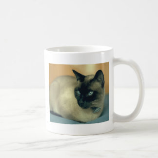 Siamese cat classic white coffee mug