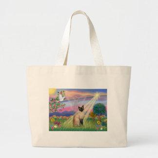 Siamese Cat - Cloud Angel Canvas Bag