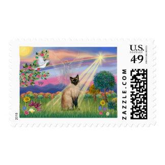 Siamese Cat - Cloud Angel Postage