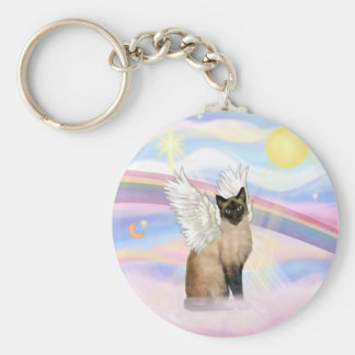 Siamese Cat - Clouds Keychain