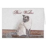 Siamese Cat Customizable Greeting  Card