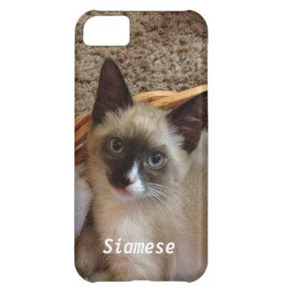 Siamese cat cute cover for iPhone 5C