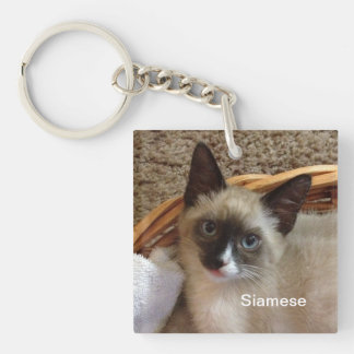 Siamese cat cute keychain