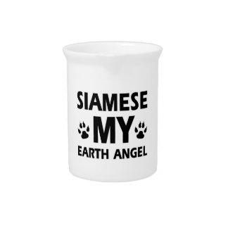 siamese cat design pitcher