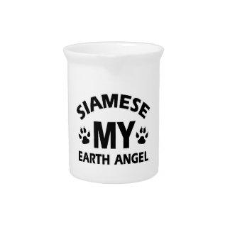 siamese cat design beverage pitchers
