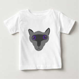 Siamese Cat face. Baby T-Shirt