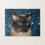 Siamese cat face jigsaw puzzle