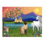 Siamese Cat - Fantasy Land Post Cards