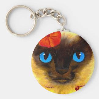 Siamese Cat Feline Art Painting - Multi Keychains